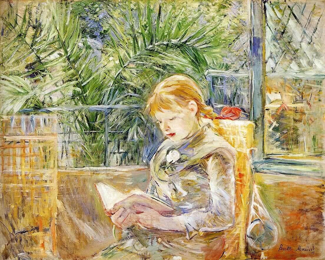 """""""Lezen"""" door Berthe Morisot"""