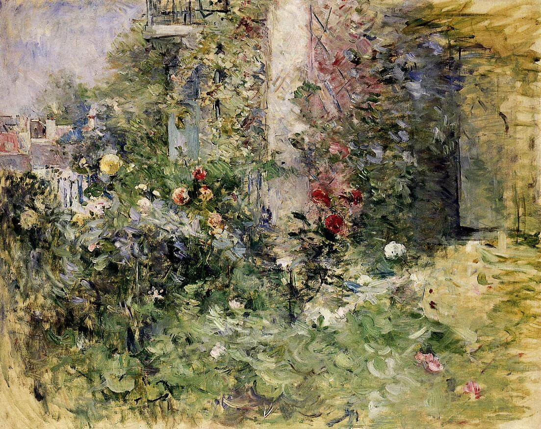 """De tuin in Bougival"" door Berthe Morisot"